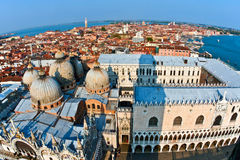 Aerial of Venice from the campanile San Marco Royalty Free Stock Photos