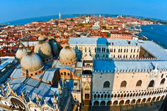 Overlooking the beautiful city of Venice Stock Photography