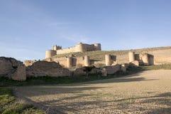 Overlooking the castle of Berlanga Stock Images
