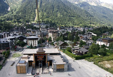 Overlooking Chamonix, France Royalty Free Stock Photo