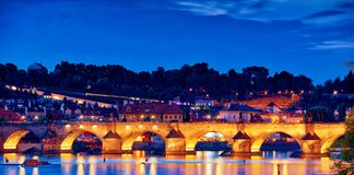 Night scene of Charles Bridge