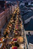Overlooking a christmas fair in the town of Schwerin from a Ferris wheel in november 30 2018 stock images