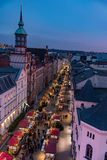 Overlooking a christmas fair in the town of Schwerin from a Ferris wheel in november 30 2018 royalty free stock images