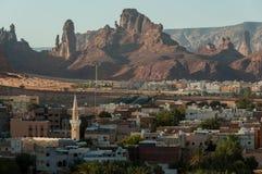 Overlooking the city of Al Ula, Saudi Arabia Stock Photo