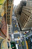 Overlooking city intersection. Overlooking a busy city intersection on Madison Avenue, Manhattan, New York City (USA royalty free stock image