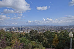 Overlooking the City of Montreal, Quebec Royalty Free Stock Photos