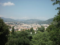 Overlooking the city of Nice, France Stock Image