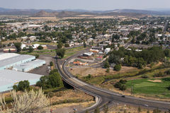 Overlooking city of Prineville in Oregon Stock Photos