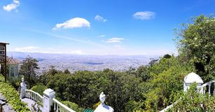Overlooking the Colombian landscape royalty free stock images