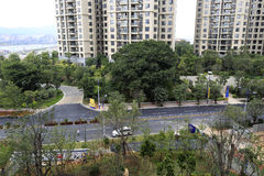 Overlooking the construction of zhangzhou development zone Stock Photography