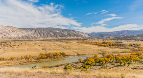Overlooking Dinosaur National Monument. A viewpoint in Dinosaur National Monument from Cub Creek Road Stock Photos