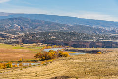 Overlooking Dinosaur National Monument. A viewpoint in Dinosaur National Monument from Cub Creek Road Stock Photography