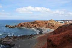 Overlooking El Golfo - Lanzarote, Canary Islands. Stock Image