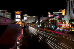 Overlooking the the famous Las Vegas Blvd Royalty Free Stock Images