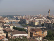 Overlooking Florence. A row of houses in Florence Stock Photo