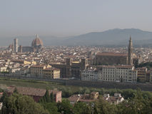 Overlooking Florence. A row of houses in Florence Stock Photos