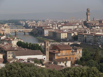 Overlooking Florence. A row of houses in Florence Royalty Free Stock Image