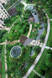 Overlooking Garden Royalty Free Stock Photos