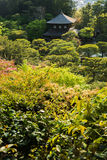 Overlooking the Ginkakuji Temple in Kyoto. Royalty Free Stock Photography