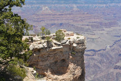 Overlooking the Grand Canyon in Arizona. Royalty Free Stock Photography