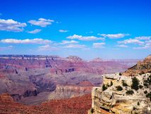 Overlooking the Grand Canyon on a Sunny Day Royalty Free Stock Photo