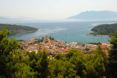 Overlooking Greek bay Royalty Free Stock Photos