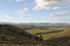 Overlooking Gunnison Stock Photo