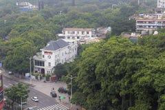 Overlooking huyuanlu street Royalty Free Stock Image