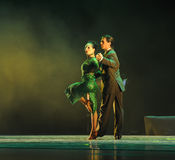 Overlooking the-the identity of the mystery-Tango Dance Drama Stock Image