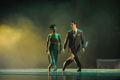 Overlooking the-the identity of the mystery-Tango Dance Drama. Fernanda Ghi and Guillermo Merlo is Argentina's most famous tango dancer, is also a famous royalty free stock images