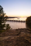 Overlooking the Illinois River at sunrise. Stock Photography