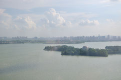 Overlooking jinji lake Royalty Free Stock Image