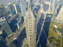 Overlooking Jinmao tower Royalty Free Stock Photo