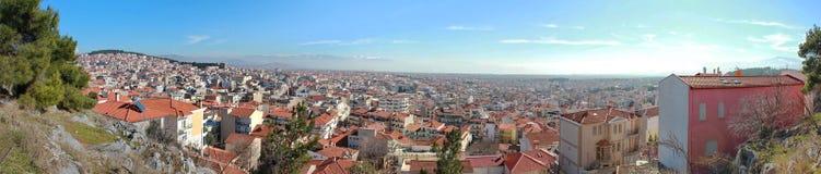 Overlooking Kozani, Greece. Panoramic view overlooking the city of Kozani, Greece Stock Image