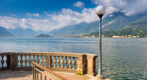 Overlooking Lake Como from Bellagio in the direction of Lenno royalty free stock images