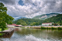 Overlooking  lake lure Stock Photo