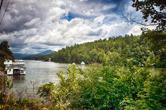 Overlooking  lake lure Royalty Free Stock Photography