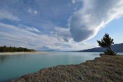 Overlooking the lake Stock Photo