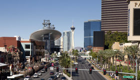 Overlooking the Las Vegas Blvd Royalty Free Stock Images