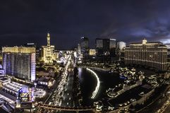 Overlooking the Las Vegas strip in Nevada stock photography
