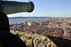 Overlooking Lisbon from Castle of São Jorge Royalty Free Stock Images