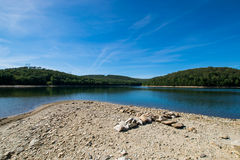 Overlooking Long Pine Reservoir in Michaux State Forest, Pennsyl. Vania During Summer Royalty Free Stock Image