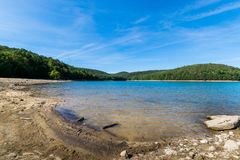 Overlooking Long Pine Reservoir in Michaux State Forest, Pennsyl. Vania During Summer Royalty Free Stock Photo