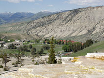 Overlooking Mammoth Hot Springs Stock Images