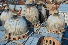 Overlooking the marcus church in venice Stock Image