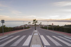 Overlooking the Mediterranean. Royalty Free Stock Images