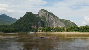 Overlooking the Mekong river royalty free stock photos