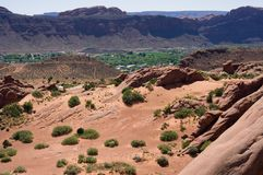 Overlooking Moab Utah Royalty Free Stock Photo