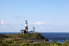 Overlooking the Montauk Point Lighthouse Royalty Free Stock Photos