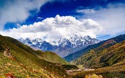 Overlooking Mount Gongga Royalty Free Stock Photo